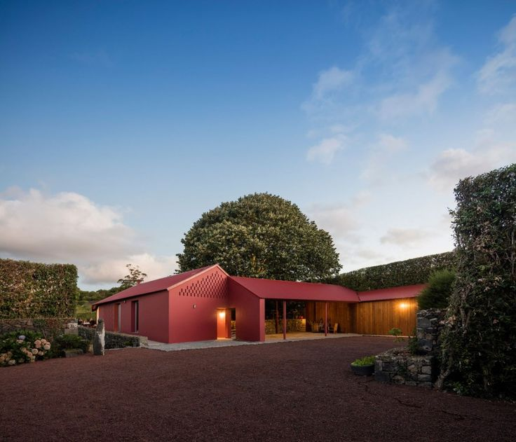 Pedro Mauricio Borges Designs a Bright Red Home in Ponta Delgada