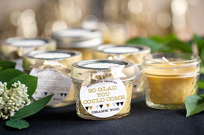 Candle Wedding Gift: Wedding Inspiration: Black And Gold