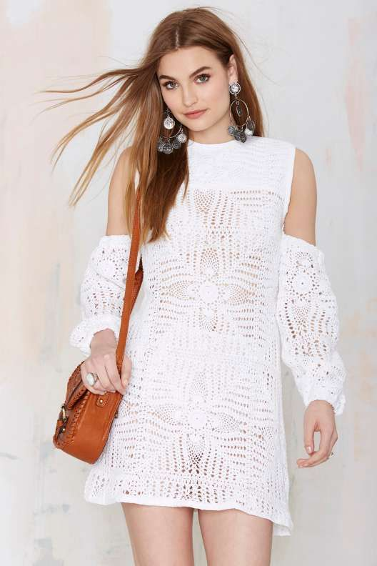 1000  ideas about White Crochet Dresses on Pinterest - Crochet ...