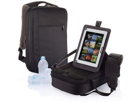 B-Axis mochila para portátil.No hay mejor lugar para llevar tu tablet que en la mochila B-Axis. Tiene un soporte patentado donde tu tablet estará bien resguardada. En un solo movimiento la podrás utilizar mediante el sistema Fidlock también patentado. Bolsillo lateral especial para tus accesorios. Es una mochila resistente al agua. Material de rPET (Botellas PET recicladas).  #promopresent #regalosdeempresa