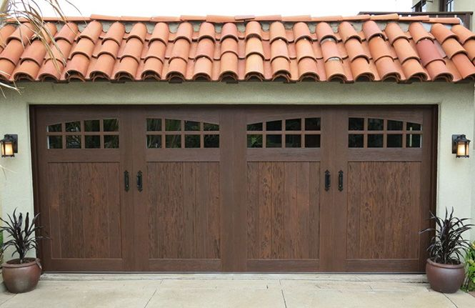 Clopay Canyon Ridge Collection Design 11 Arch 4 Windows