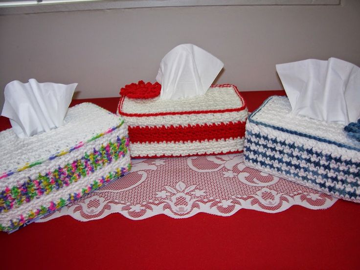 Free Pattern for Tissue Box Cover | Grams Home Cooking