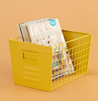 Metal Locker Box in Yellow, Domayne $20