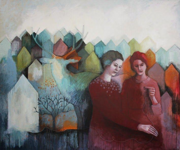 """Elin Folkesson, """"Allt vävs samman"""", 2015, 120x145 cm"""