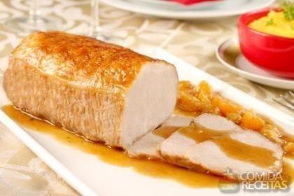 Receita de Lombo ao molho de cerveja com purê de maçã e mandioquinha em receitas de carnes, veja essa e outras receitas aqui!
