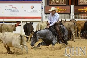 ONCE IN A BLU BOON....Owner Jill Freeman  With James Payne aboard, the stallion won the Classic/Challenge Open at the National Cutting Horse Association (NCHA) Summer Spectacular on July 18, earning nearly $40,000.