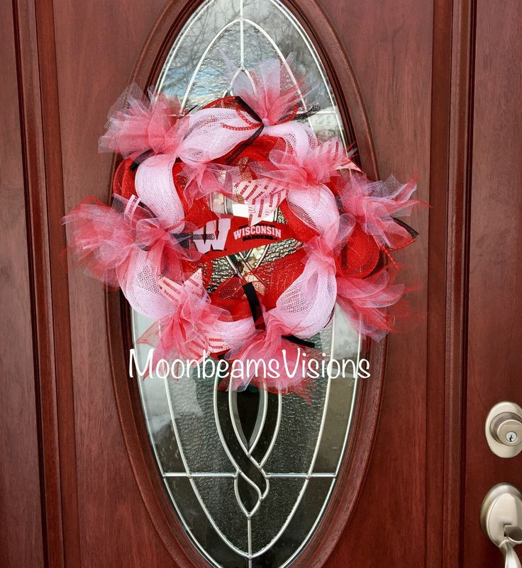 A personal favorite from my Etsy shop https://www.etsy.com/listing/501731085/wisconsin-badgers-wreath-college-decor