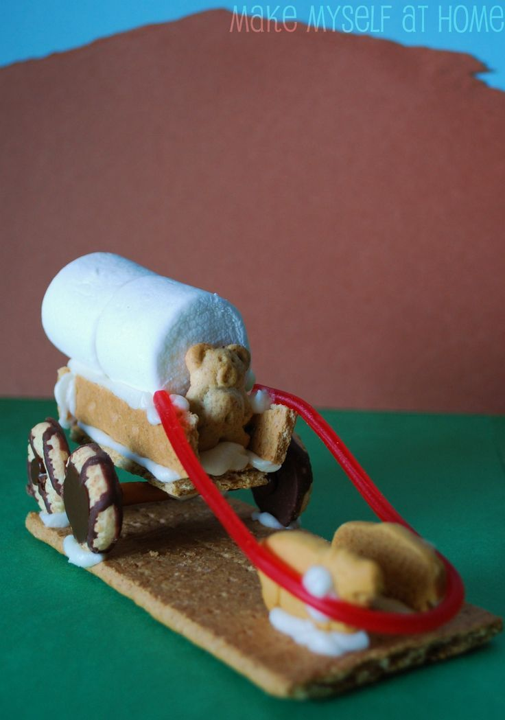 Wow this is a cute one: Pioneers covered wagon snacks....Great activity to use to wrap up a study of the Oregon Trail!