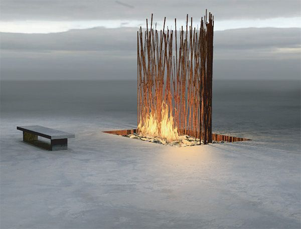 firefeatures.com has some amazing modern fire pits that double as art!