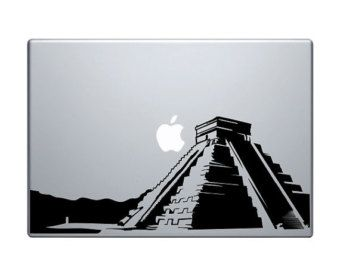 "Mayan Pyramid Vinyl Decal / Sticker to fit Macbook Pro 13"" 15"" 17"" and Air 11"" 13"" - Custom sizes available - die cut Mexico Aztec"