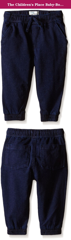 The Children's Place Baby-Boys Knit Denim Jogger Pant. A knit denim jogger pant with the stylish denim look he loves.