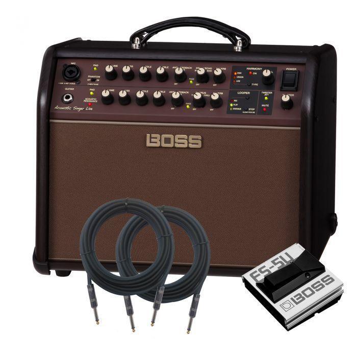 Boss Acoustic Singer Live Acoustic Guitar Amplifier Amp Pak Guitar Amplifier Acoustic Guitar