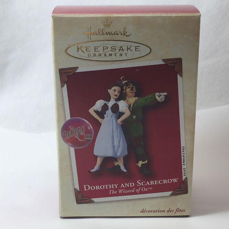 2002 Hallmark Keepsake Dorothy and Scarecrow Wizard of Oz Christmas Ornament