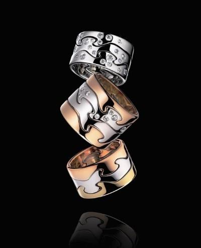 George Jensen | mooi als trouwring! 3 of 4 losse ringen die in elkaar vallen..