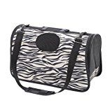 Nixikoo Pet Carrier Bag Portable Durable Breathable Washable Foldable Adjustable Single Shoulder Pet Travel Outdoor Carrier Tote Handbags for Dogs, Cats and Small Pets (01 White Zebra Stripe)