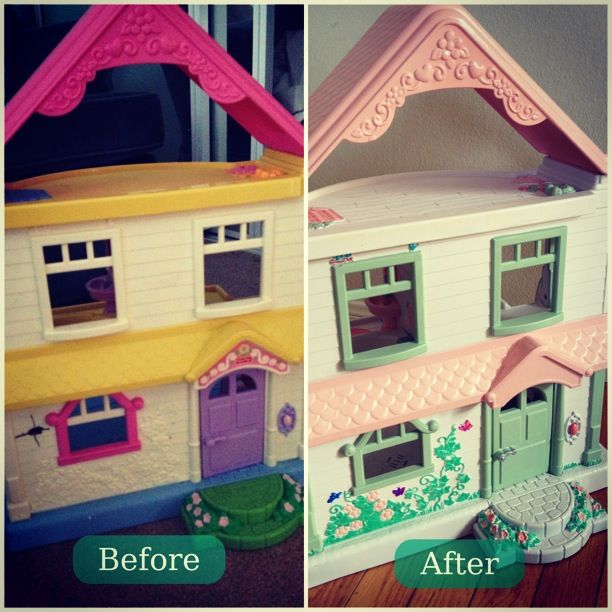 Turned To Design: Painted Plastic Doll House | Nursery For Noahu0027s ARC |  Pinterest | Dolls, Plastic Doll And Painting Plastic