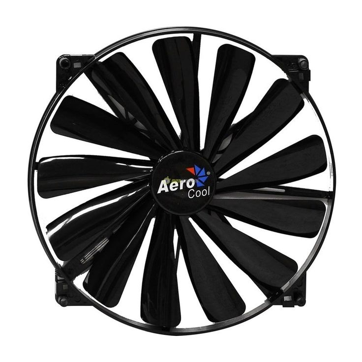 Aerocool Dark Force Ventola da 200mm Full Black modding case 20x20 cabinet fan