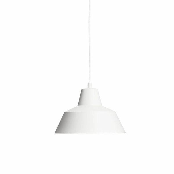 Made By Hand Værkstedslampe Pendel Mat Hvid W2 spisebordslampe