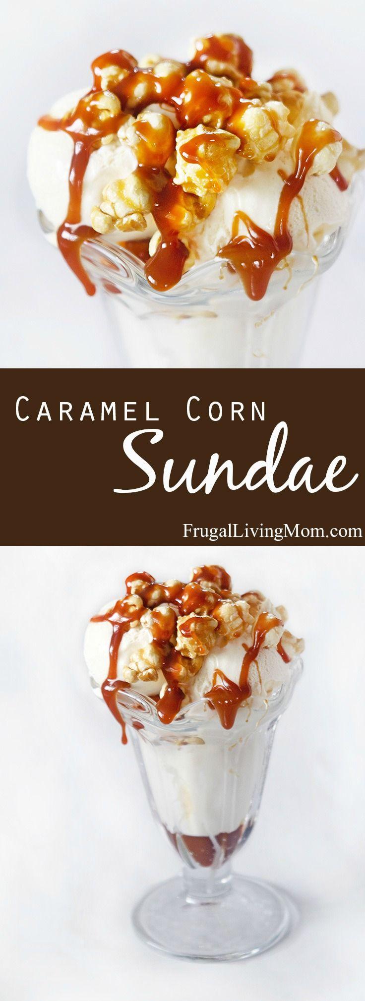 Super easy caramel corn sundaes receta recetas dulces - Film para cocinar ...