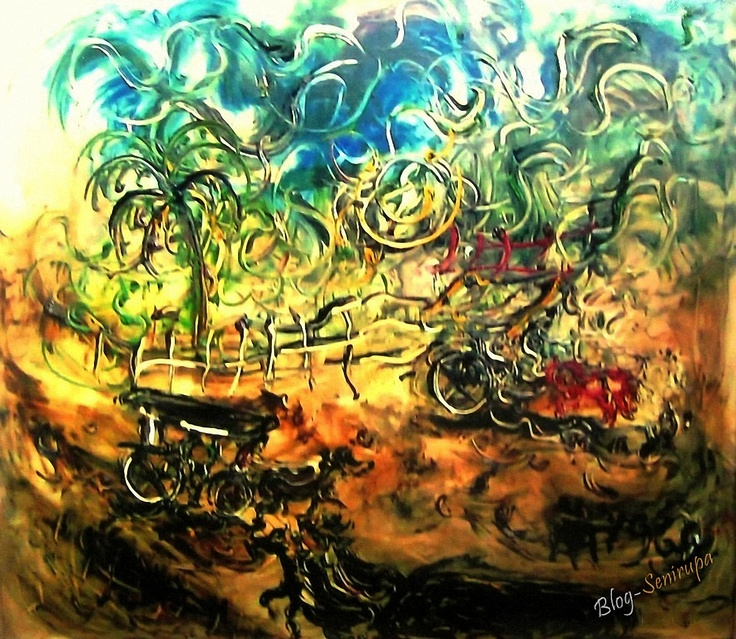 Affandi_1963 - Andong Jogja,  Oil on canvas 110cm X 95cm