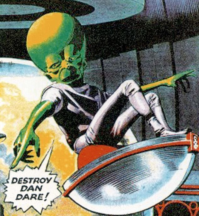 Comic book hero Dan Dare battled against the Mekon, ruler of Venus in British…