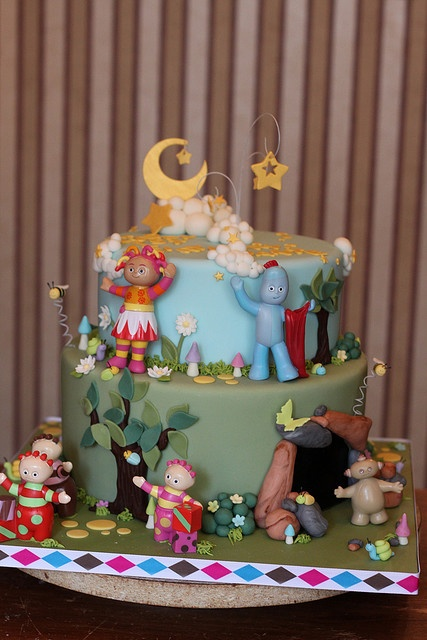 17 best images about in the night garden themed party for In the night garden cakes designs