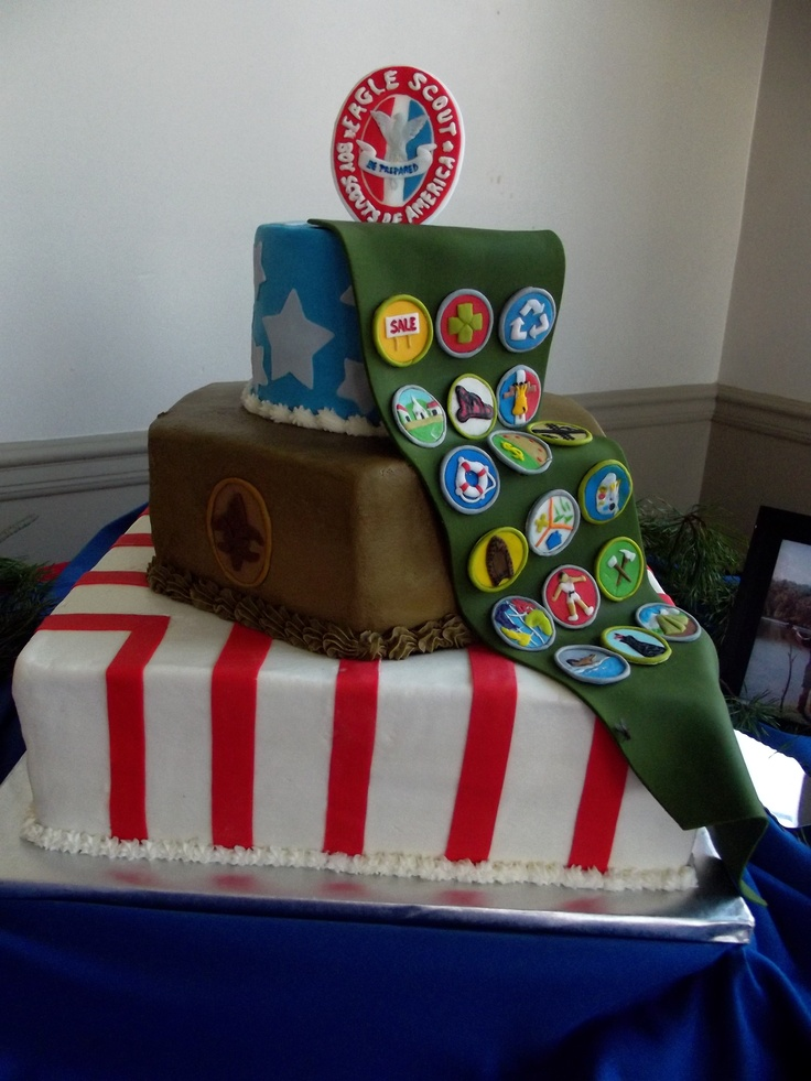 pin eagle scout cake ideas and designs