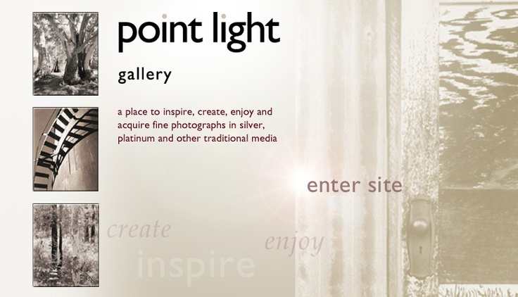 Point Light Gallery; a commercial gallery showing and selling the work of artists who use traditional monochrome photographic media; Sydney, Australia
