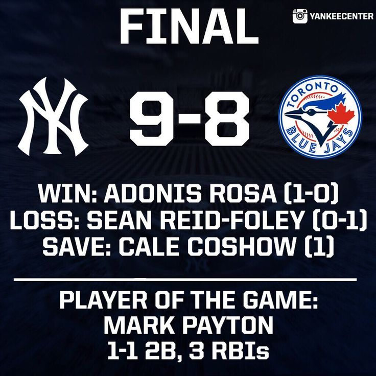 The Yankees defeat the Blue Jays by a score of 9-8 to move to 5-0 in Spring Training. - Yankees (5-0) | 9 Blue Jays (1-4) | 8 - H: Romine 2 | Payton 1 | Andújar 1 | McBroom 1 | Espinosa 1 | Wade 1 | Florial 1 | Robinson - HRs: Espinosa Andújar McBroom - RBIs: Payton 3 | Andújar 1 | McBroom 1 | Espinosa 1 | Robinson 1 - Next Game: Tomorrow vs. Tigers | 1:05 PM ET - #NewYorkYankees #NewYork #Yankees #Baseball #MLB Yanks #Bronx #BronxBombers #YankeeCenterPostGame2018 #YankeeCenterPostGame…