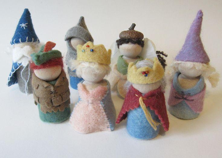 PEG-Puppe königlichen Damen Nähen Kit/Königin und Prinzessin Waldorf Spielzeug Kit