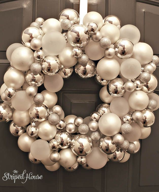 No fail step-by-step tutorial on how to create a glass ornament wreath!
