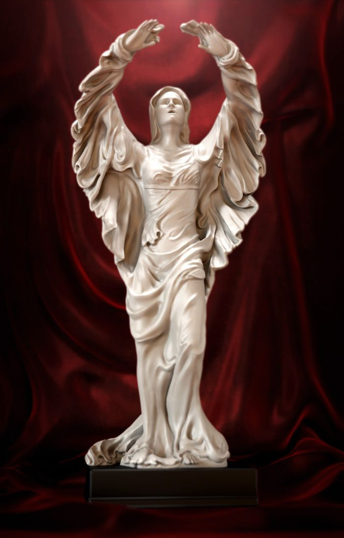 angel without wings 3D Sculpture Classic style: by Disko Ferdi Dick