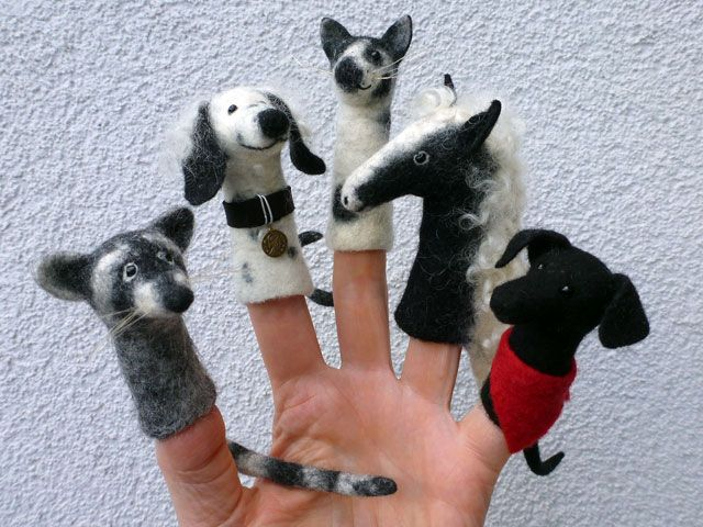 Felted Finger Puppets by Brigitte Funk