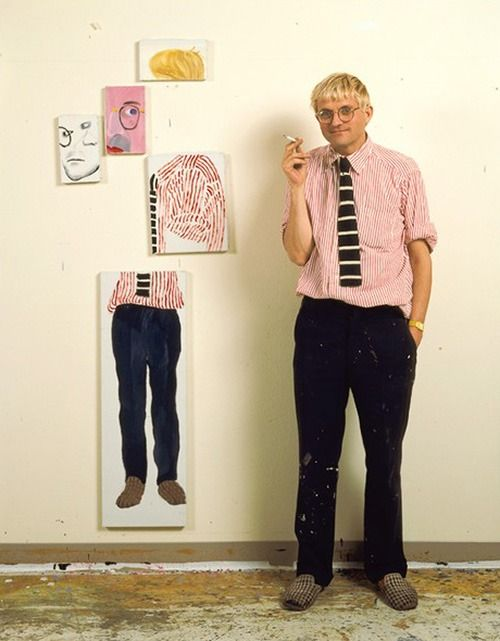 "hohfootwear: "" David Hockney in his studio """
