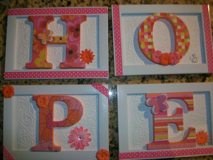 Chipboard Letters Ideas ~ Chip decor letters chipboard crafts pinterest