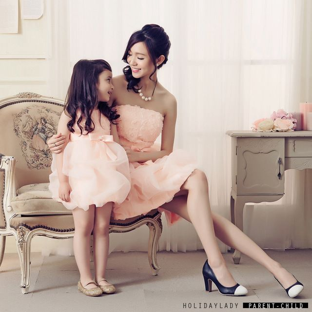 Special offer 2016 Mother and Daughter Clothes Mother and Daughter Party Dress Women Evening rose flower Dress Toddler Girls Evening bow Dress just only $36.01 - 47.41 with free shipping worldwide  #boysclothing Plese click on picture to see our special price for you