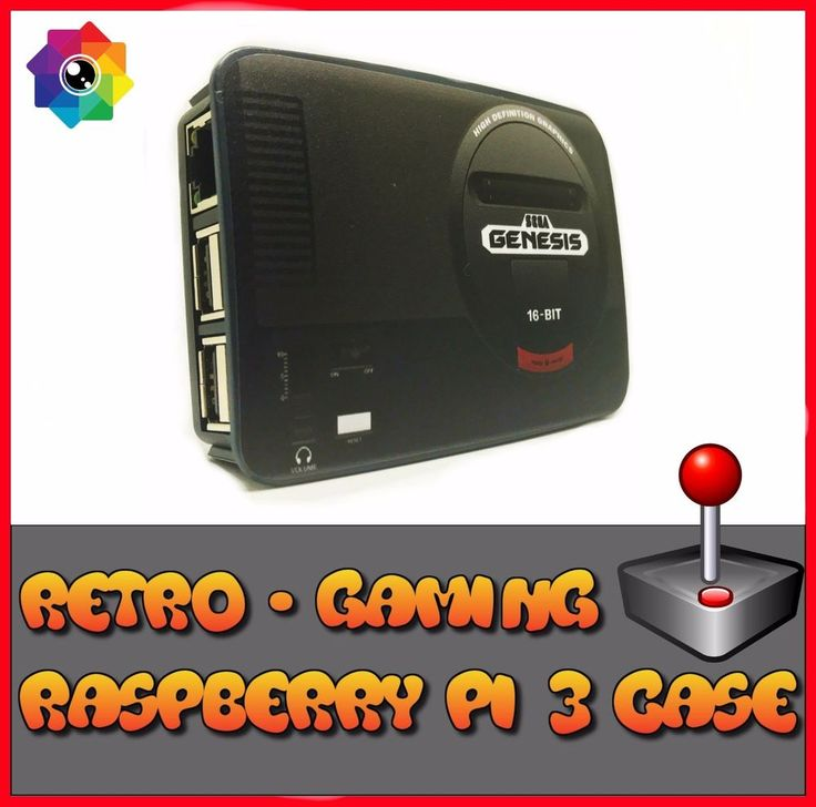 Raspberry Pi 3 case Retro style gaming  Sega Genesis (Use with Retropie or Kodi)