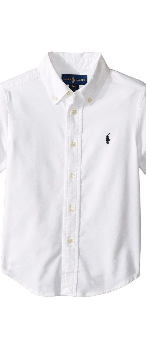 Polo Ralph Lauren Kids Performance Oxford Short Sleeve Button Down Shirt (Toddler) (White) Boy's Short Sleeve Pullover - Polo Ralph Lauren Kids, Performance Oxford Short Sleeve Button Down Shirt (Toddler), 321652586001-100, Apparel Top Short Sleeve Pullover, Short Sleeve Pullover, Top, Apparel, Clothes Clothing, Gift - Outfit Ideas And Street Style 2017