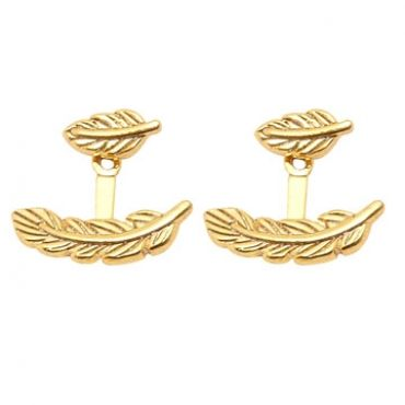 Maui Earrings in Gold - available in gold and silver.$24.00 Get 25% off these earrings with coupon code 'foxy pin' www.foxyoriginals... #goldjewelry, #goldearrings, #foxyoriginals, #earjackets, #sistergift, #goldearjackets, #jewelrygift, #cutepackaging, #holidaygift, #birthdaygift, #momgift, sister gift, jewelry gift, best friend gift, holiday gift, teenager gift, birthday gift, silver jewelry, cute packaging, gold packaging