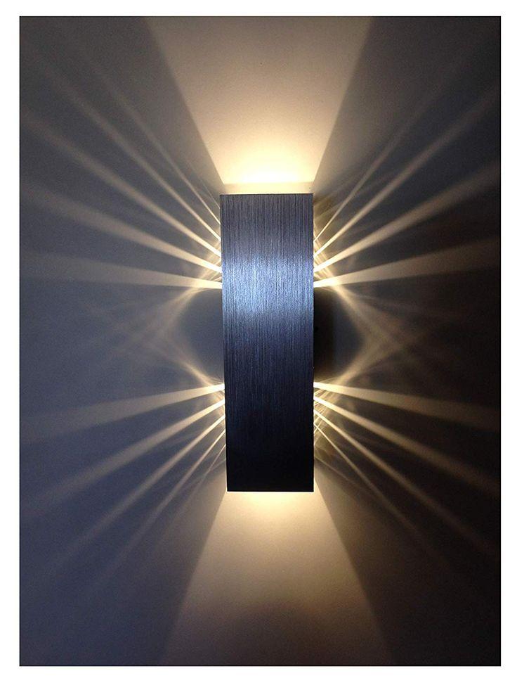 Spiceled Shineled 6 Applique Murale Avec 2 Led De 3 W Intensite Variable Couleur Blanc Chaud Amazon Fr Cuisin Parement Mural Applique Murale Blanc Couleur