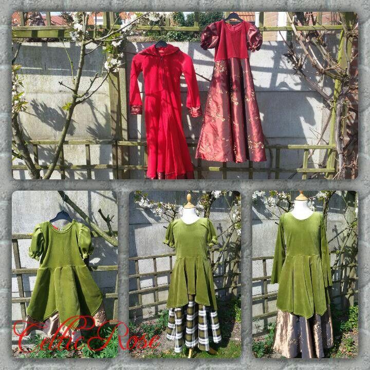 Fantasy jurkjes voor kleine meisjes.  #fantasy #gothic #kleding #meisjes #keltisch #celtic #middeleeuwen
