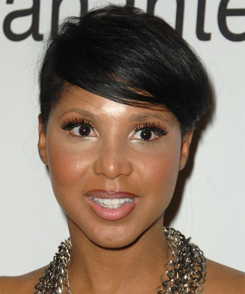 Pin By Kerry Dow On Great Hair Tricks And Tips: Toni Braxton Short Straight Hairstyle