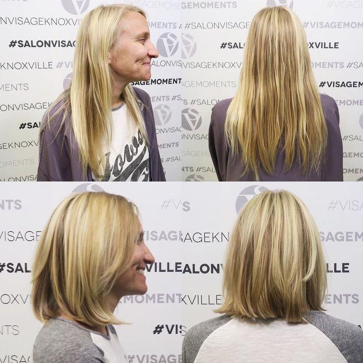 From long to lob!  Cut: Melissa/ @m5kids  Model: Sherry #visagemoments #haironfleek