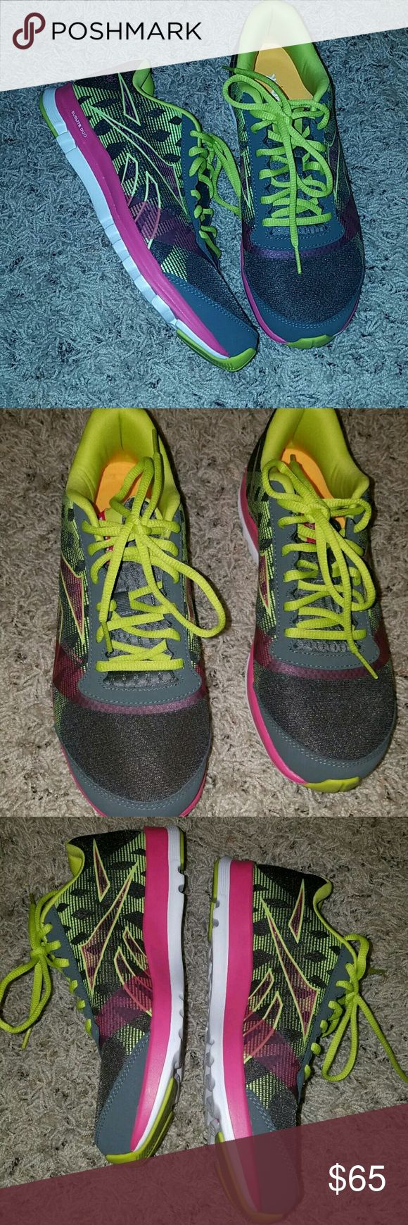 Reebok Sublite Duo Neon Running Shoes Reebok Sublite Duo Neon Running Shoes No Flaws Size 10  Excellent used condition. No flaws.    LB Reebok Shoes Sneakers