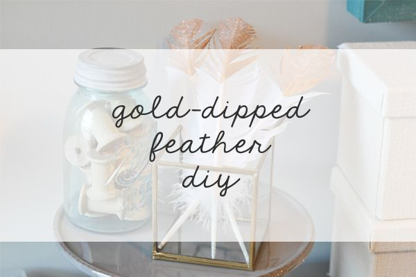 gold-dipped feathers - perfect for adding finishing touches to a gift or home decor.