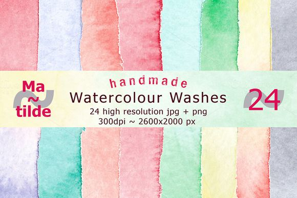 Watercolour Washes by Matilde on @creativemarket