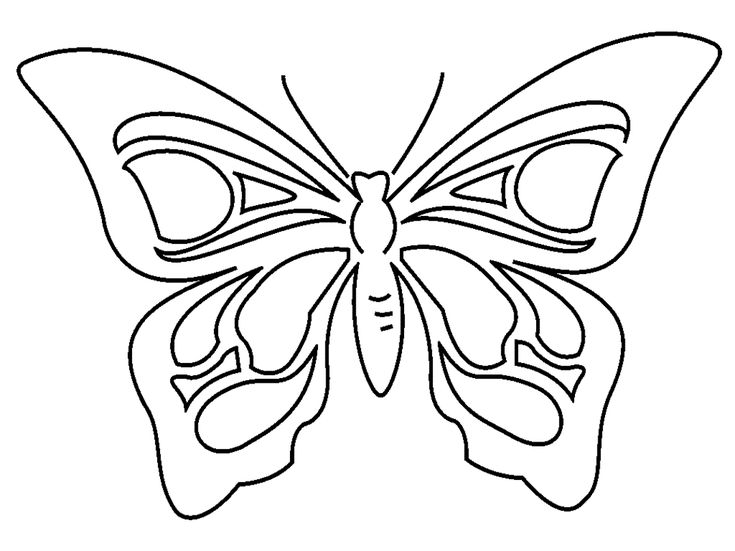 FARFALLA DA COLORARE | Farfalla da stampare e da colorare categoria animali - disegni da ...
