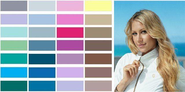 """ЛЕТО (2) Цветотип Лето — цвет волос В выборе цвета волос девушкам этого цветотипа нужно придерживаться тех же правил, что и с выбором цвета одежды. Избегайте рыжих оттенков. Рыжий цвет волос испортит цвет лица """"лета"""". """"Летняя"""" девушка с рыжими волосами выглядит болезненно. Пропадает блеск в глазах. Кожа приобретает серовато-желтый подтон. Углубляются морщины. Макияж для цветотипа Лето После грамотного подбора цвета волос и цвета одежды для летнего цветотипа наступила очередь завершающего…"""