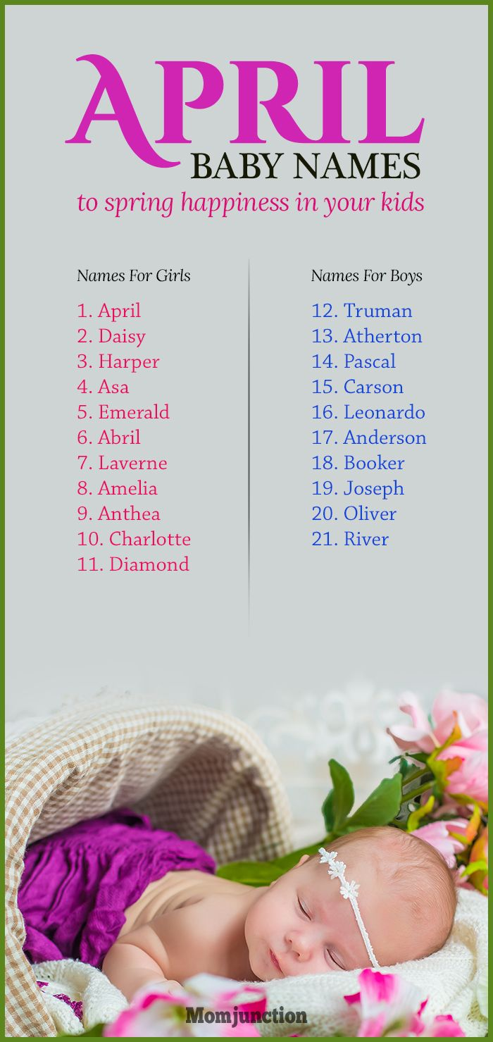 21 Scenic April Baby Names To Spring Happiness In Your