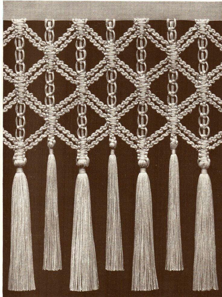 157 besten macrame bilder auf pinterest weben gardinen und knoten. Black Bedroom Furniture Sets. Home Design Ideas